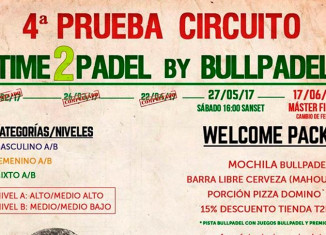 Cartel del torneo de Time2Pádel by Bullpadel