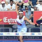 Cecilia Reiter, en acción en el Estrella Damm Barcelona Open