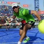 Juani Mieres, en acción en el Estrella Damm Barcelona Open
