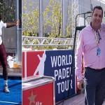 Serena Williams juega al pádel en el Mutua Madrid Open