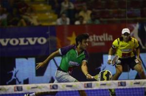 Juani Mieres y Pablo Lima, en acción en el Estrella Damm Córdoba Open