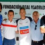Butragueño, Auguste, Lamperti y Osborne, en el Circuito Fundación Real Madrid