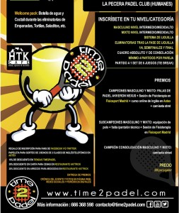 Time2Padel organiza un torneo en La Pecera