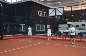 Gastón Malacalza y Pablo Lima, en GET Indoor Pádel