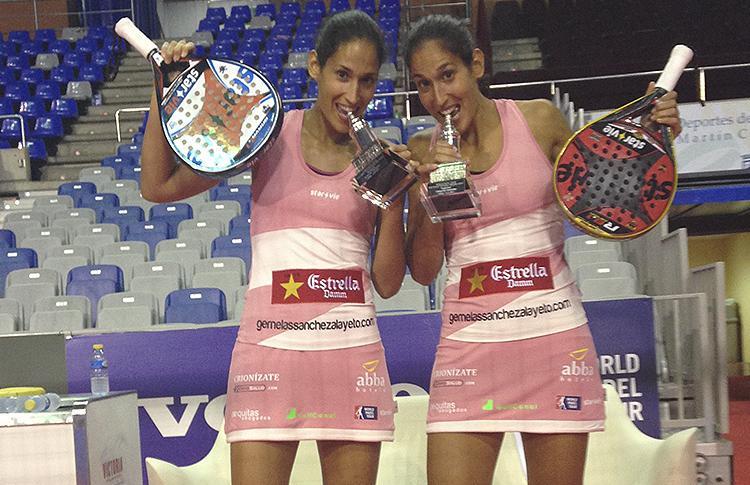 Mapi y Majo Sánchez Alayeto, tras vencer el Cervezas Victoria Málaga Open