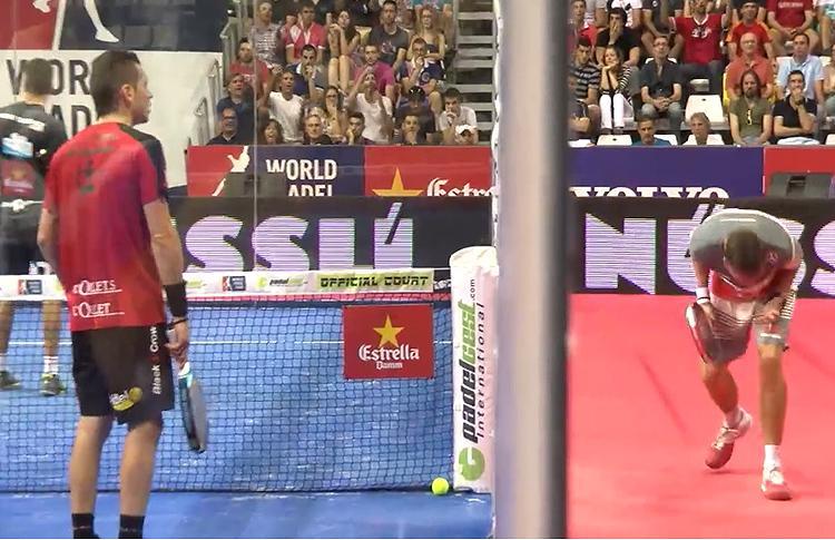 Paquito Navarro y Tito Allemandi protestan en el Estrella Damm Castellón Open