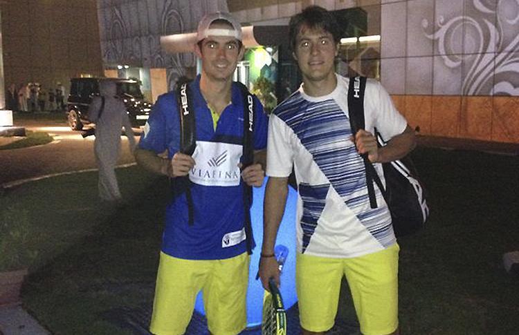 Gonzalo Rubio y Andoni Bardasco, en el Torneo de Exhibición de Dubai
