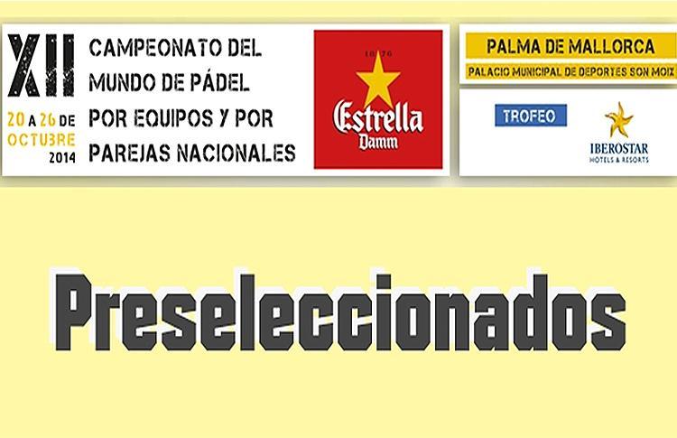 Preseleccionados para el Mundial Mallorca 2014
