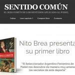 Nito Brea y la web de su libro 'Sentido Común'