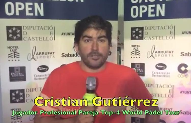 Cristian Gutiérrez habla con Psicología del Pádel