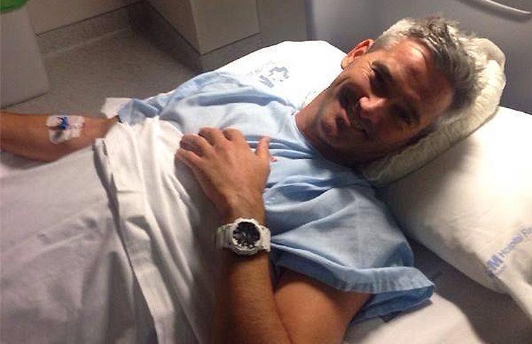 Miguel Lamperti, a punto de entrar en el quirófano