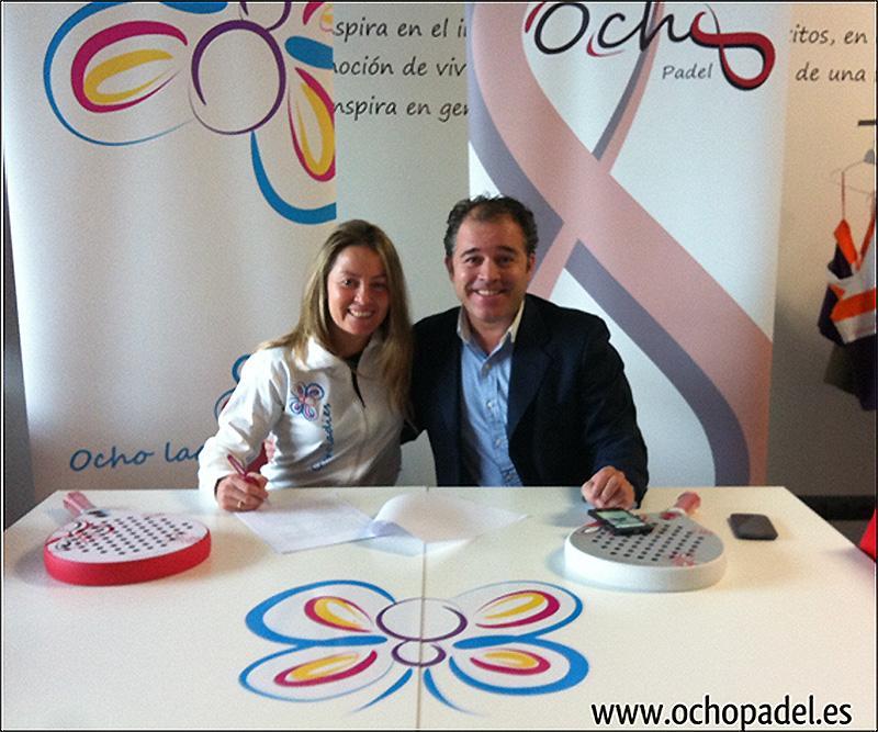 Javier Salinas, CEO di OchoPadel e Nela Brito