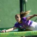 Alba Galán, en el Estrella Damm Marbella Open