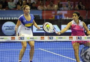 Icíar Montes y Alejandra Salazar, en el Estrella Damm Sevilla Open