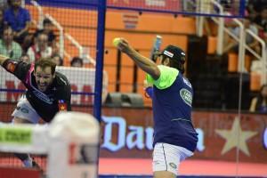 Juan Martín Díaz y Fernando Belasteguín, en el Estrella Damm Alcobendas Open