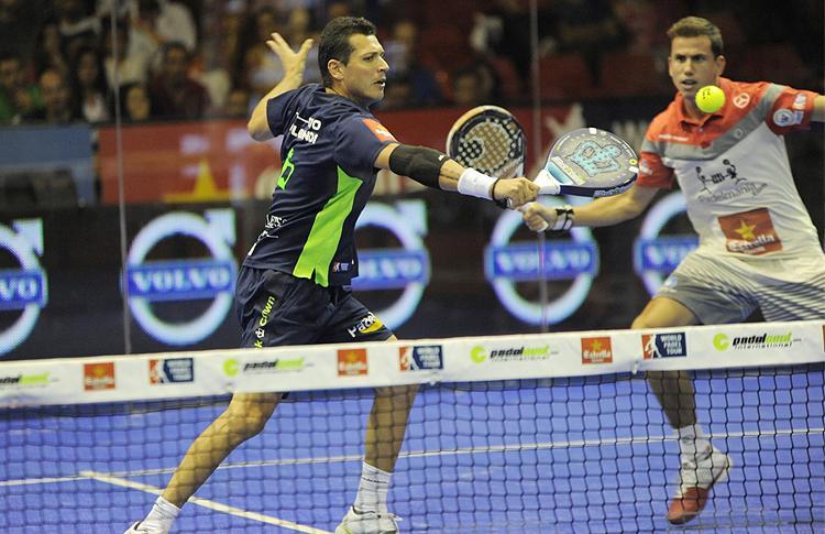 Paquito Navarro y Tito Allemandi, en el Estrella Damm Sevilla Open