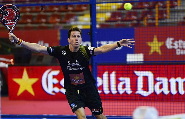 Paquito Navarro, en acción en el Estrella Damm Córdoba Open