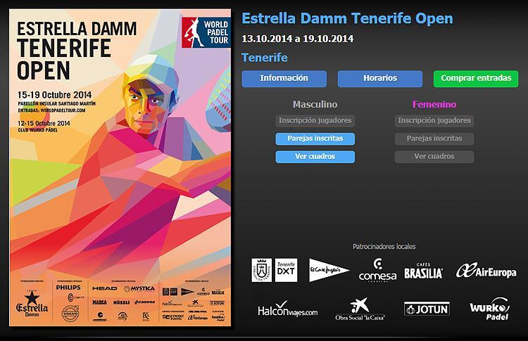 Cruces y horarios Estrella Damm Tenerife Open