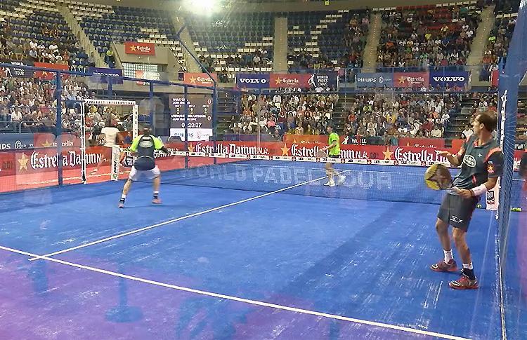 Juan Martín Díaz y Fernando Belasteguín en el Estrella Damm Tenerife Open