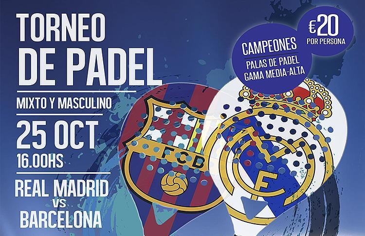 Real Madrid-FC Barcelona en GET Indoor Pádel