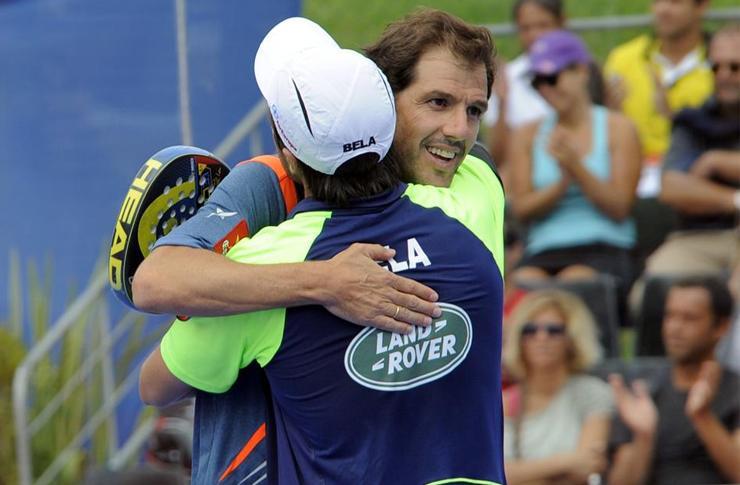 Juan Martín Díaz y Fernando Belasteguín, en el Estrella Damm Lisboa Open