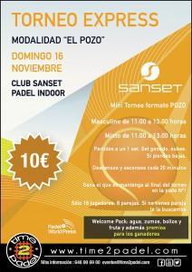 Cartel Pozo Time2Pádel en Sanset