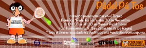 Cartel Torneo Gomaespuma en Sanset Pádel