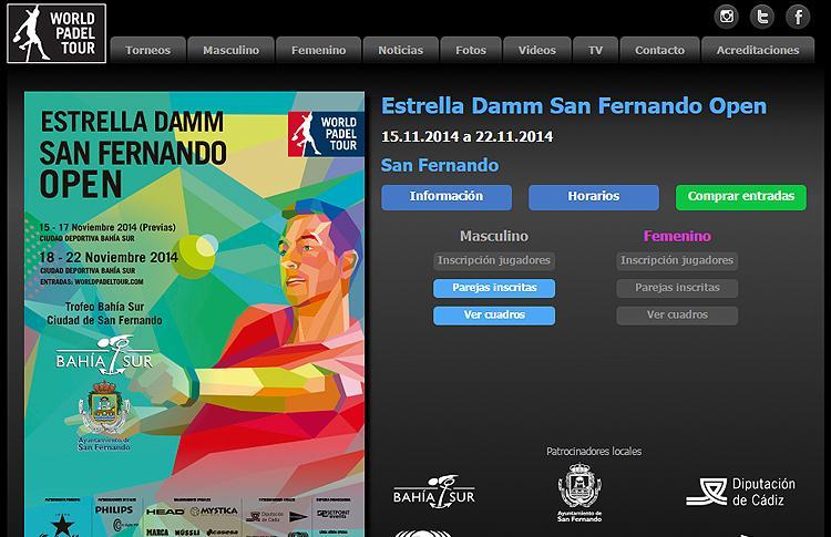 Cruces y horarios Estrella Damm San Fernando Open