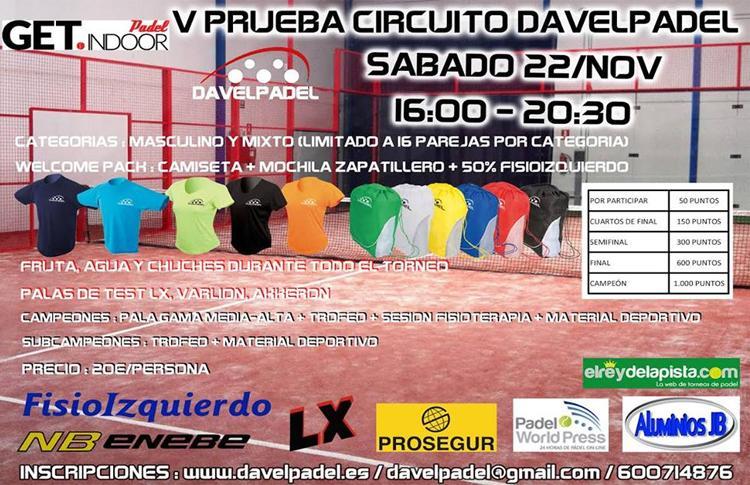 Cartel Vª Prueba Circuito DavelPadel