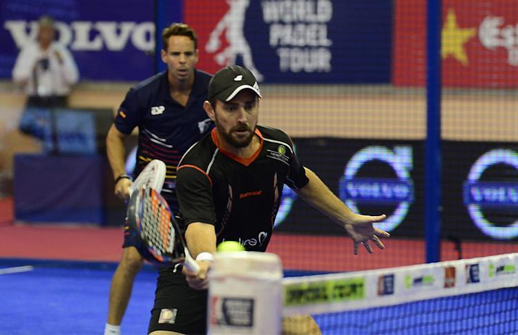 Aday Santana y Jordi Muñoz, en el Estrella Damm Alcobendas Open
