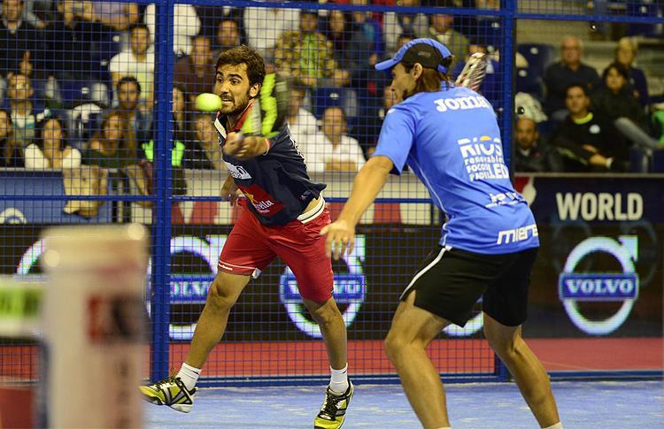 Pablo Lima y Juani Mieres, en el Estrella Damm Valencia Open