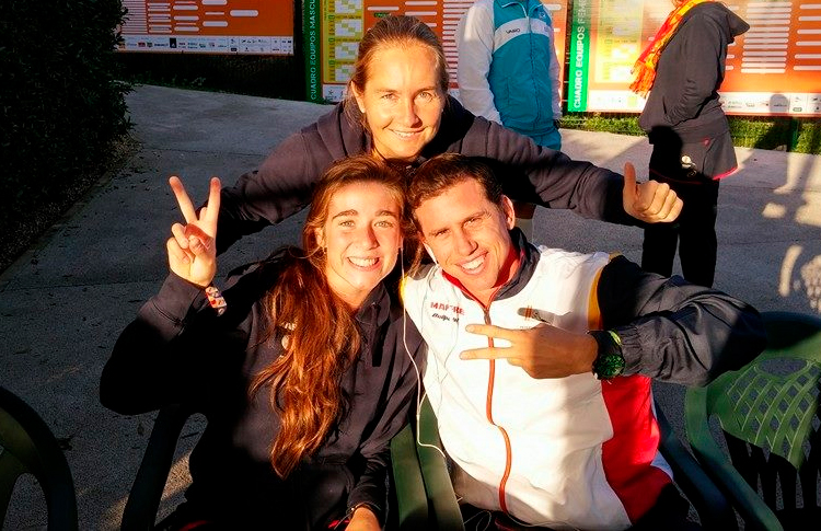 Martita Ortega, Carolina Navarro e Paquito Navarro