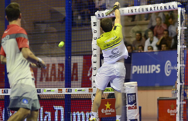 Paquito Navarro y Maxi Grabiel, en el Estrella Damm San Fernando Open (World Pádel Tour)