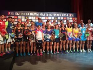 Foto de grupo de los participantes en el Estrella Damm Másters Finals