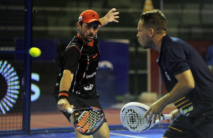 Aday Santana y Jordi Muñoz, en acción en el Estrella Damm Alcobendas Open (World Pádel Tour)