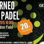 Cartel Torneo Time2Pádel en GET Indoor