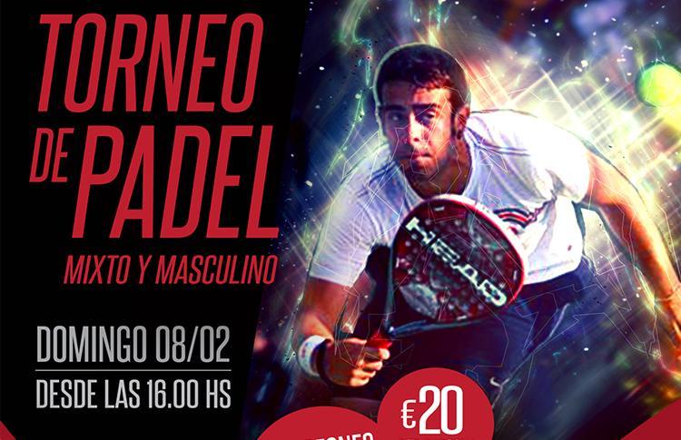 Affiche du tournoi qui organisera A Tope de Pádel sur les traces de GET Indoor Pádel