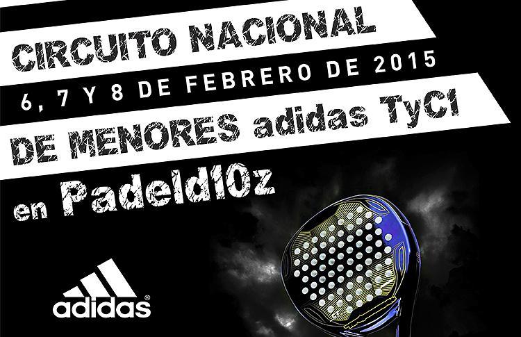 Cartel del primer TyC 1 del Circuito de Menores Adidas