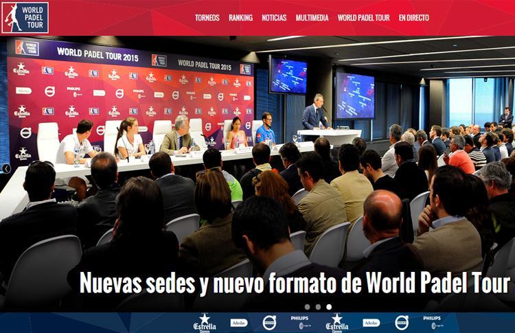 World Pádel Tour presenta su nueva página web