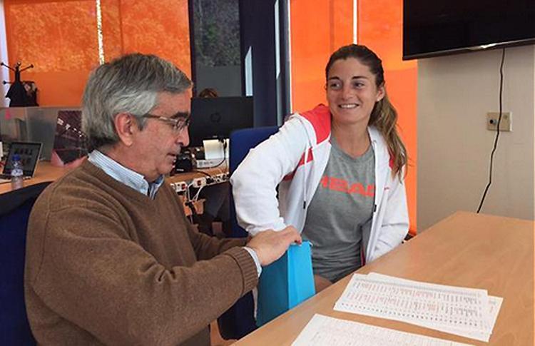Alejandra Salazar, en el sorteo del Estrella Damm San Fernando Open