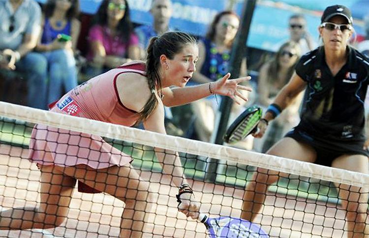 Martita Ortega y Lucía Sainz, en el Estrella Damm Córdoba Open