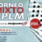 Cartel del Torneo Mixto que organiza Club Pádel La Moraleja