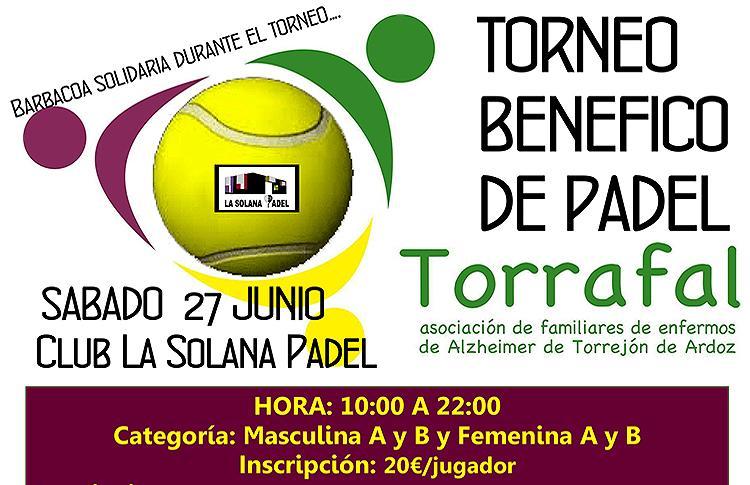 Cartel del Torneo Benéfico que se jugará en La Solana