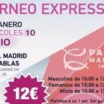 Cartel del Torneo Mañanero de Time2Pádel en Pádel Madrid Las Tablas