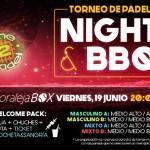 Cartel del Torneo Nocturno que Time2Pádel organizará en Moraleja Box