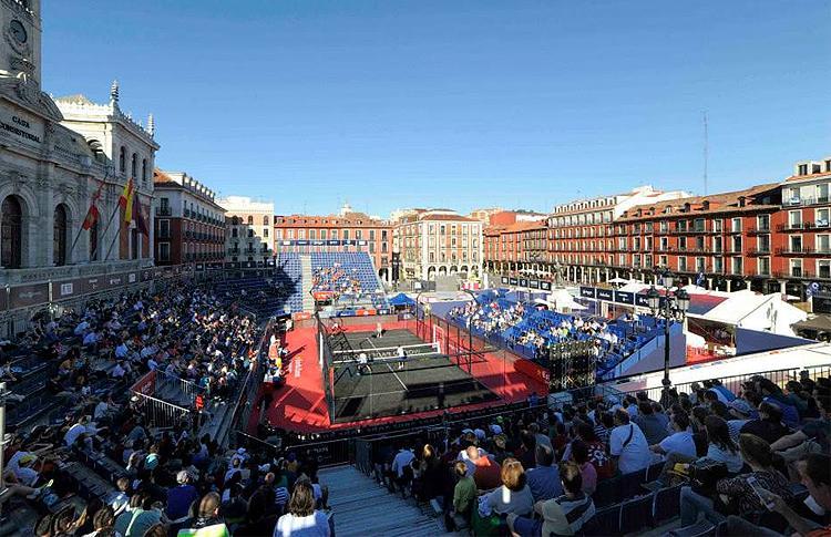 La Plaza Mayor, escenario principal del Estrella Damm Valladolid Open