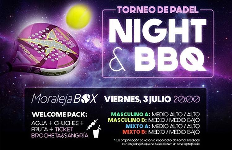 Cartel del nuevo Torneo Nocturno que organizará Time2Pádel en Moraleja Box