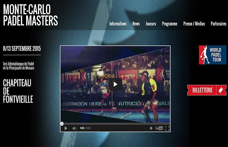 Página Web Oficial de Monte-Carlo Padel Master