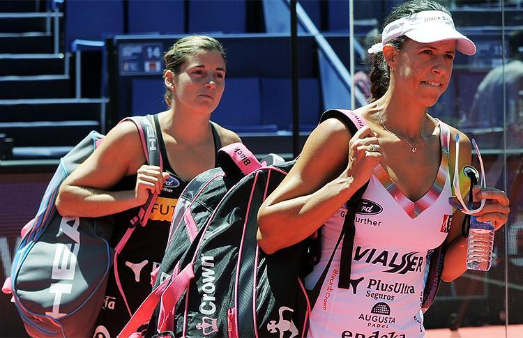 Marta Marrero y Alejandra Salazar, en el Cervezas Victoria Málaga Máster