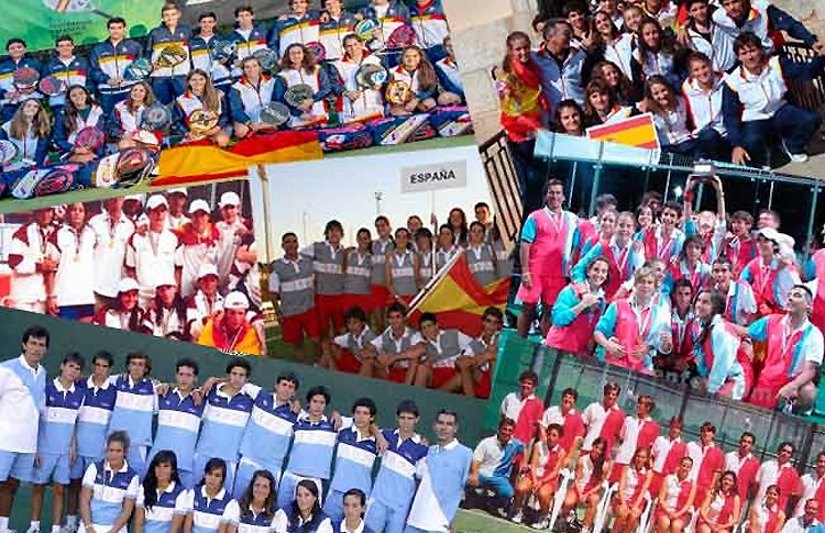 Collage des sélections espagnoles dans les mondes des mineurs